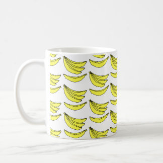 Banana Pattern. Basic White Mug