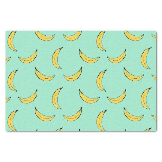 Banana Pattern - Blue Tissue Paper