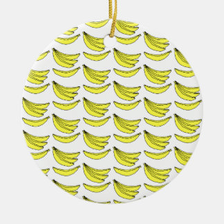 Banana Pattern. Christmas Ornament