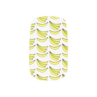 Banana Pattern. Minx Nail Art