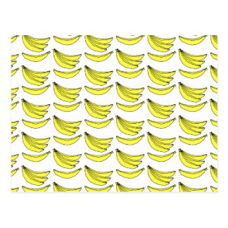 Banana Pattern. Postcard
