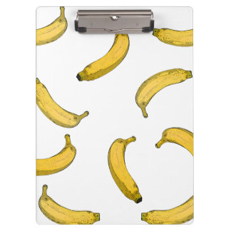 Banana pattern sketch version clipboard