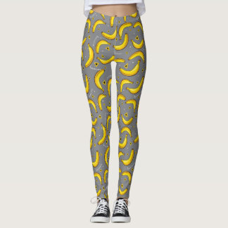 Banana Pop Art Patterned Leggings