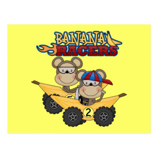 Banana Racers Tshirts and Gifts Postcard