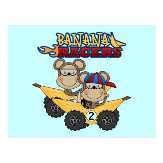 Banana Racers Tshirts and Gifts Postcards