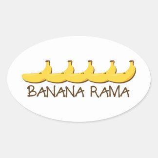Banana Rama Oval Sticker