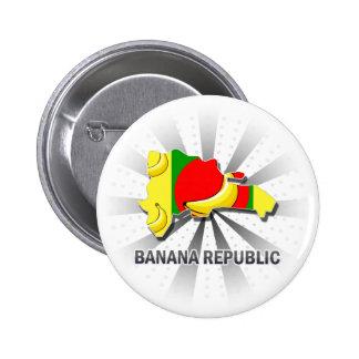 Banana Republic Flag Map 2.0 6 Cm Round Badge