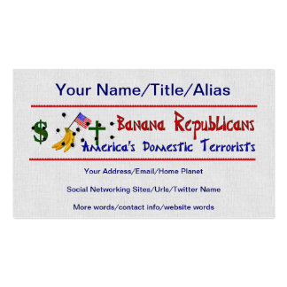 Banana Republicans Pack Of Standard Business Cards