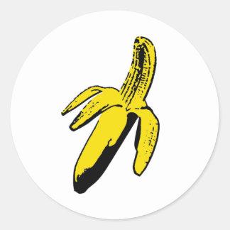 Banana Round Sticker