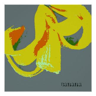 Banana Silk Screen Image