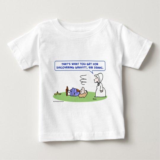 banana sir isaac newton gravity discovering baby T-Shirt