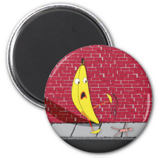 Banana Slipping on a Person Magnet