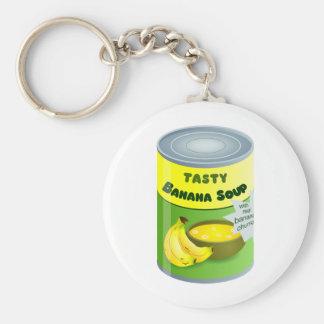 Banana Soup Basic Round Button Key Ring