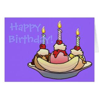 BANANA SPLIT BIRTHDAY by SHARON SHARPE Greeting Card