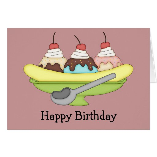 banana split birthday card  zazzle