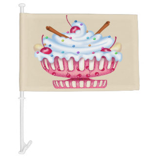 BANANA SPLIT CARTOON Car Flag