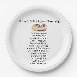 Banana Split Insomnia Aid Paper plates 9 Inch Paper Plate