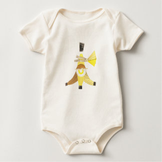 Banana Split No Background Organic Babygro Baby Bodysuit