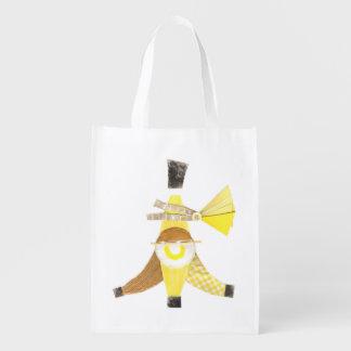 Banana Split No Background Reusable Bag