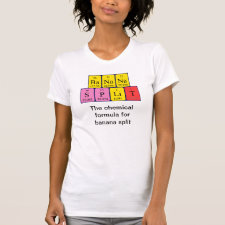 Periodic table Banana Split - the chemical formula for banana split shirt