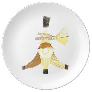 Banana Split Porcelain Plate