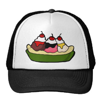 Banana Split Sweet Ice Cream Treat Trucker Hat