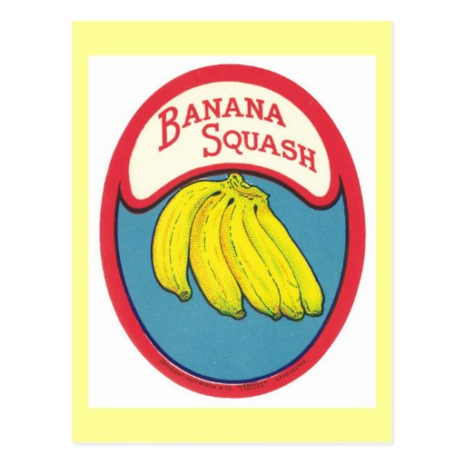 Banana Squash Vintage Label Postcards