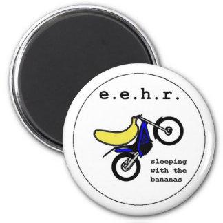 Banana Stunt Motorcyclist Magnet