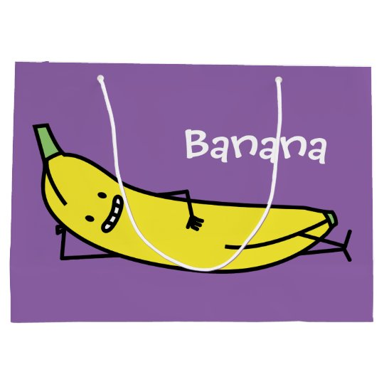 Banana that's smiling, laying down and relaxing large