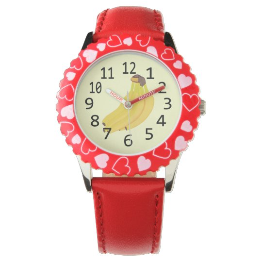 Banana Time Bunch of Bananas Numbered Watch