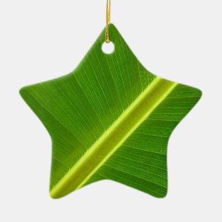 Banana Tree Leaf Ceramic Star Decoration