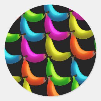 Banana Wallpaper Round Sticker