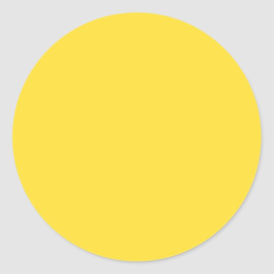 Banana Yellow Classic Round Sticker