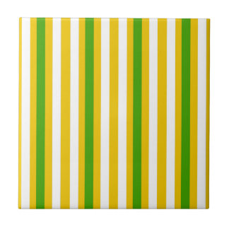 Banana Yellow Stripe Tile