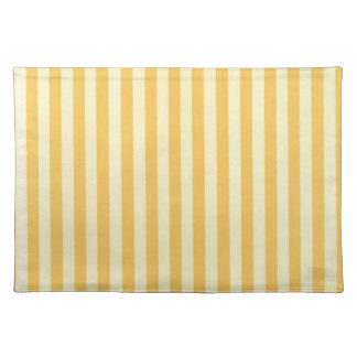 Banana Yellow Stripes Placemat