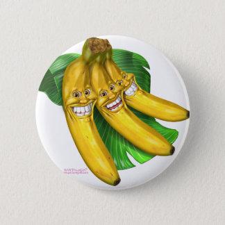 bananas 6 cm round badge