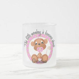 Bananas About Grandma - pink Tshirts and Gifts Frosted Glass Mug