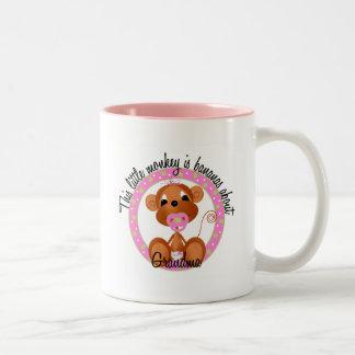 Bananas About Grandma - pink Tshirts and Gifts Two-Tone Mug