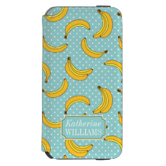 Bananas And Polk Dots | Add Your Name Incipio Watson™ iPhone 6 Wallet Case