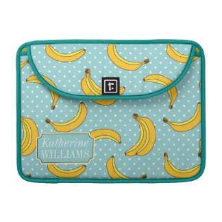 Bananas And Polk Dots | Add Your Name MacBook Pro Sleeves