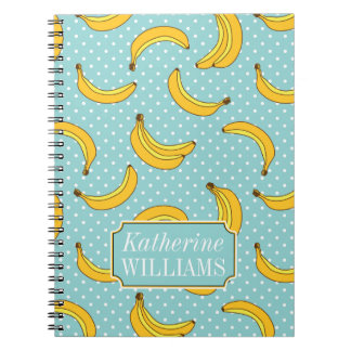 Bananas And Polk Dots | Add Your Name Note Book