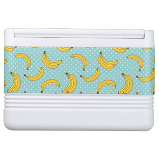 Bananas And Polk Dots Igloo Cooler