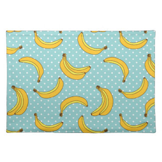 Bananas And Polk Dots Placemat