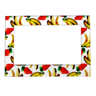 Bananas And Strawberries Magnetic Picture Frame