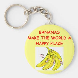 bananas basic round button key ring