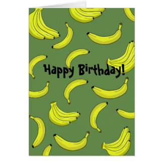 Bananas Birthday Card