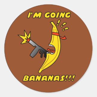 bananas classic round sticker