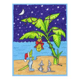 Bananas for Christmas postcard