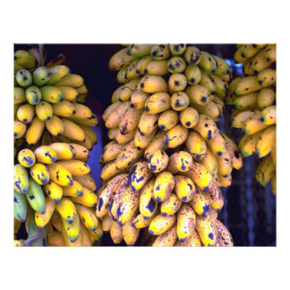Bananas for sale at market Puerto Rico Full Color Flyer