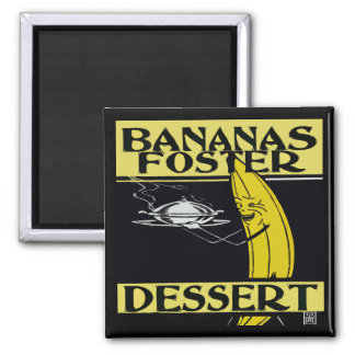 Bananas Foster Dessert Magnet